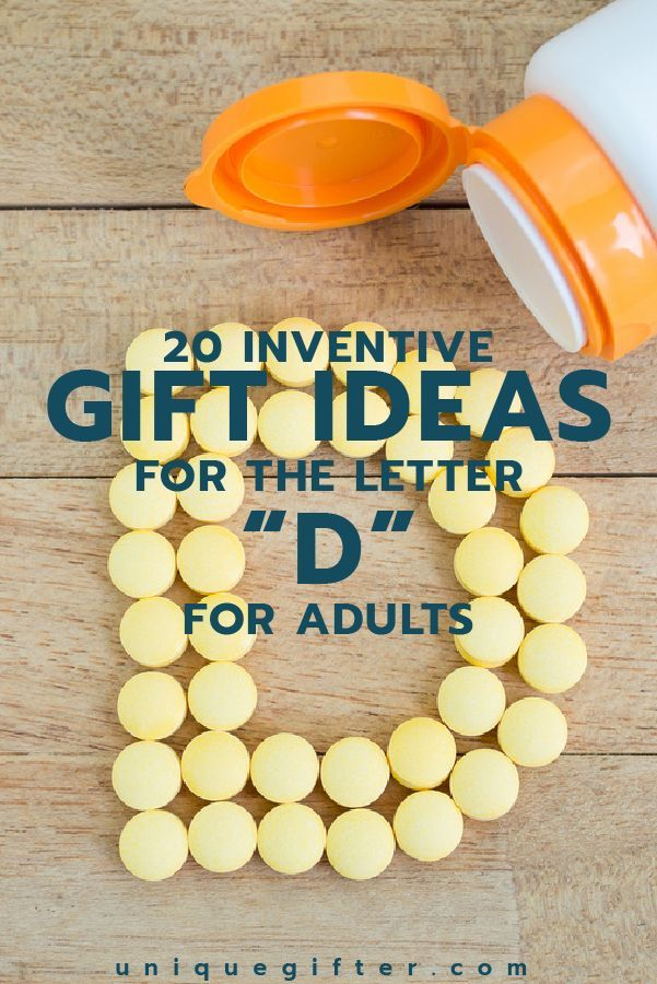Setting up the world's best scavenger hunt? Use these inventive gift ideas that start with the letter D. | Birthday | Anniversary | Adult