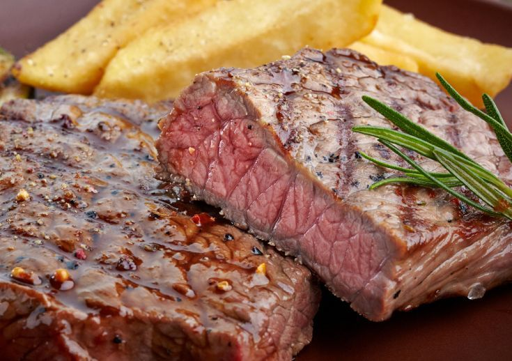 Marinovaný steak