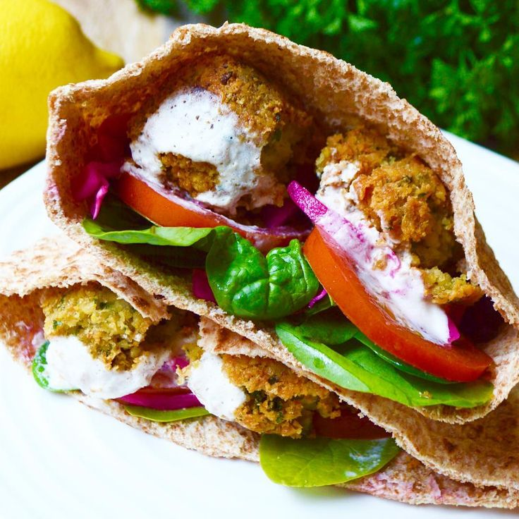 Falafels with Tahini Sauce  Not as difficult to make as I thought they would be and so so so tasty!