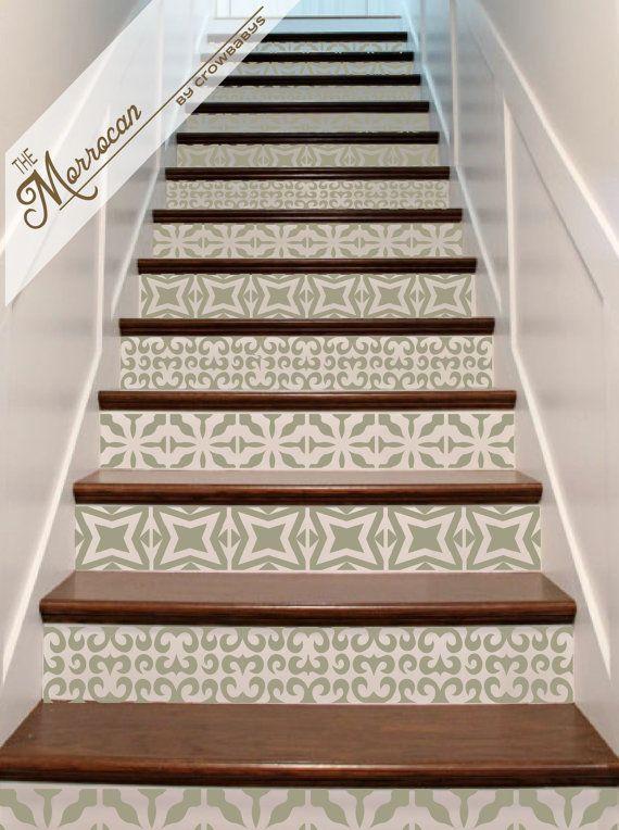 Best 25 tiled staircase ideas on pinterest - Stair riser decoration ideas ...