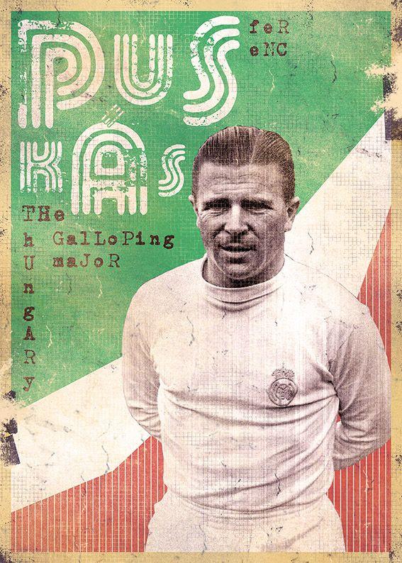 The Gods Of Football (Part II) by Marija Marković on Behance — Ferenc Puskás, Hungary