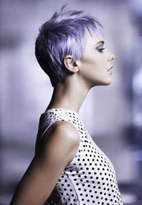 Layered Pixie Purple Short Hair: