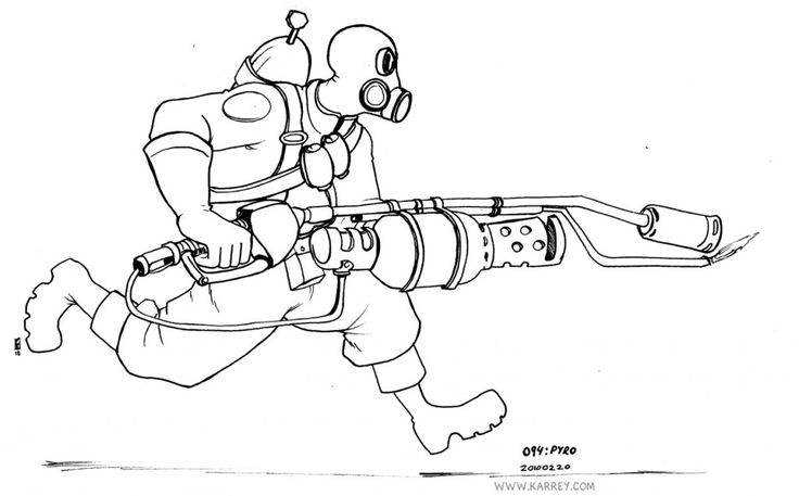 Team fortress 2 pyro coloring pages tf2 pinterest d for Team fortress 2 coloring pages