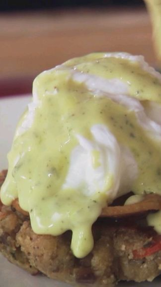 Giada turns leftover stuffing into the perfect breakfast by frying it into cakes, then layering a poached egg on top.