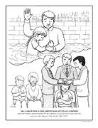 Baptism Of Jesus Coloring Page