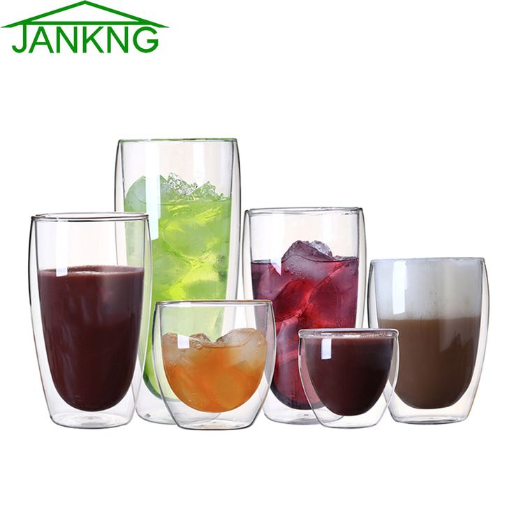 JANKNG 1 Pcs Heat-resistant Double Wall Glass Cup Beer Coffee Cup Set Handmade Creative Beer Mug Tea Mugs Transparent Drinkware #clothing,#shoes,#jewelry,#women,#men,#hats,#watches,#belts,#fashion,#style