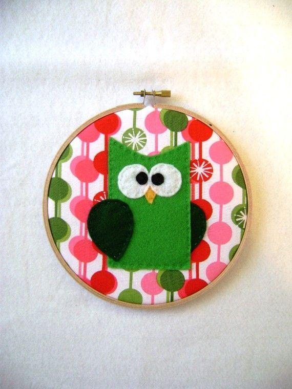 Embroidery Hoop Wall Art - great nursery gift