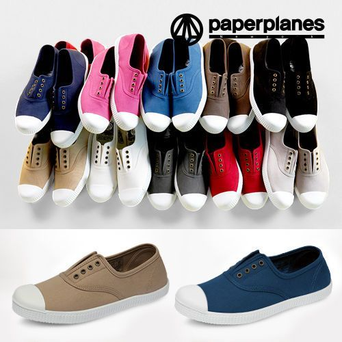 Paperplanes Pp1351 Women Plimsoll Canvas Shoes Fashion Slip On Sneakers