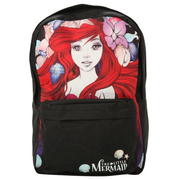 Disney The Little Mermaid Ariel Backpack | Hot Topic (39 CAD) ❤ liked on Polyvore featuring bags, backpacks, accessories, book bags, disney bag, knapsack bag, rucksack bag, disney and padded backpack