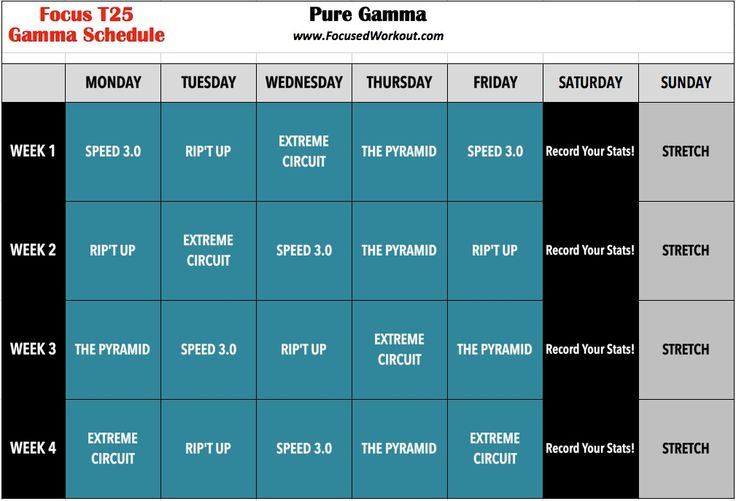Best 25+ T25 gamma schedule ideas on Pinterest T25 alpha - insanity workout sheet