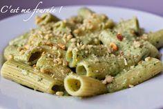 C'est ma fournée !: Rigatonis à la crème de basilic et au parmesan