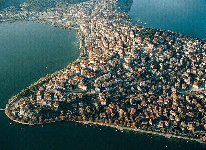 Kastoria aerial view