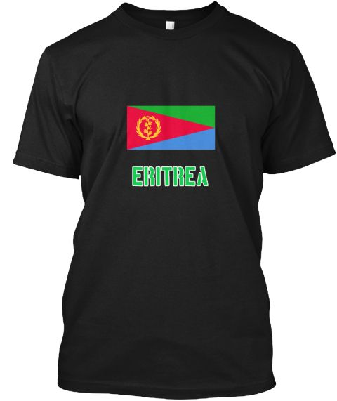 Eritrea Flag Stencil Green Design Black T-Shirt Front - This is the perfect gift for someone who loves Eritrea. Thank you for visiting my page (Related terms: I Heart Eritrea,Eritrea,Eritrean,Eritrea Travel,I Love My Country,Eritrea Flag, Eritrea Map,Eritrea  #Eritrea, #Eritreashirts...)