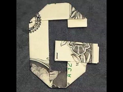 Fold Origami Dollar Bill Alphabet Letter G