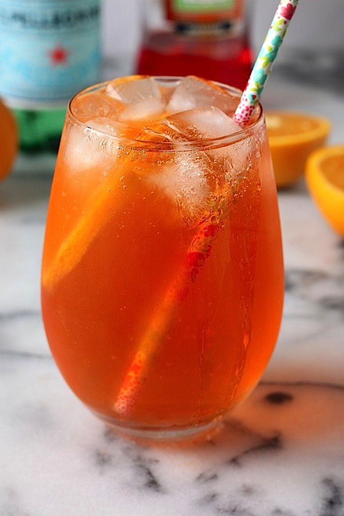 This is the drink of SUMMER! The Aperol Spritz - only calls for 3 ingredients and 3 minutes of prep time!