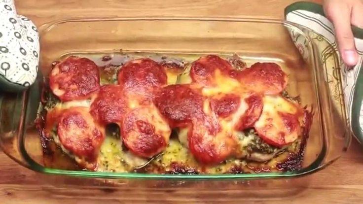 Chicken pesto cheese tomatoes recipes pinterest - Pechugas de pollo al horno ...
