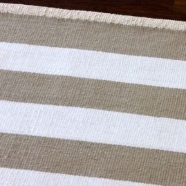 Ribbon Stripe rug - Wheat / White