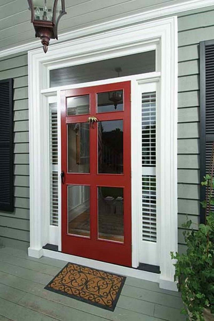 17 best images about house exterior on pinterest for Entry door with storm door