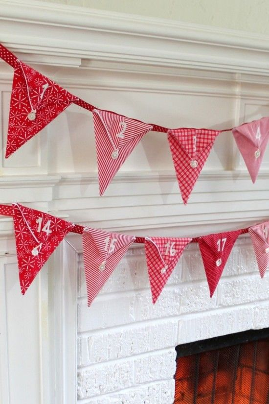 Xmas inspiration in red  l  bunting Advent calendar