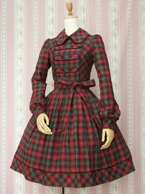 This is a very modest Victorian Maiden dress. It's hard not to like a good tartan.