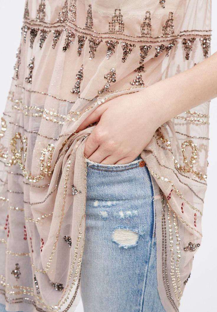 Embellished Shirt Tail Slip