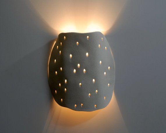 Ceramics lighting sconce Decorative by hamutalbenjoceramics