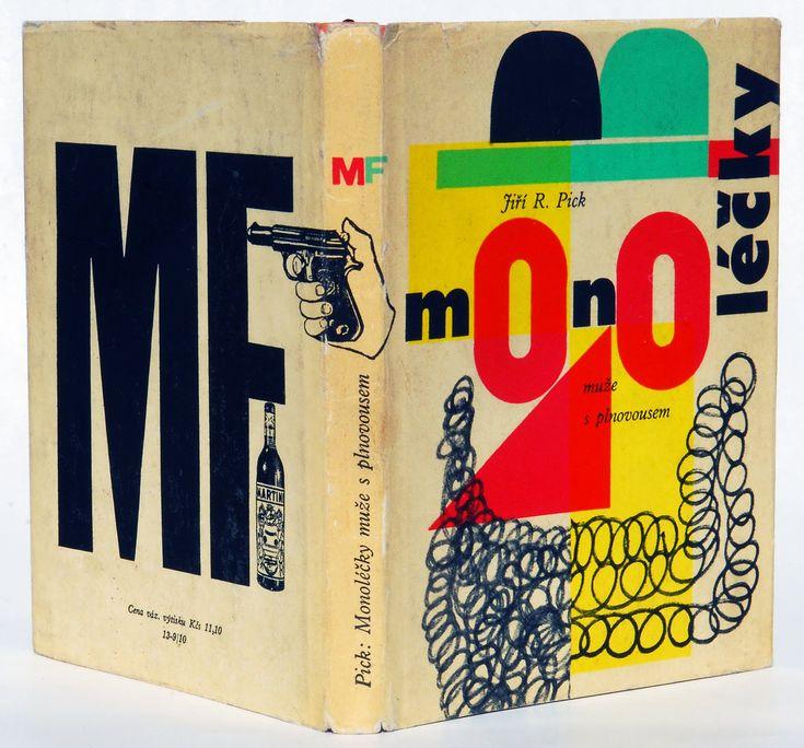 Jiri R. Pick, Muze s Plnovousem (Man With a Beard), 1961. Book design & jacket by Milos Noll.