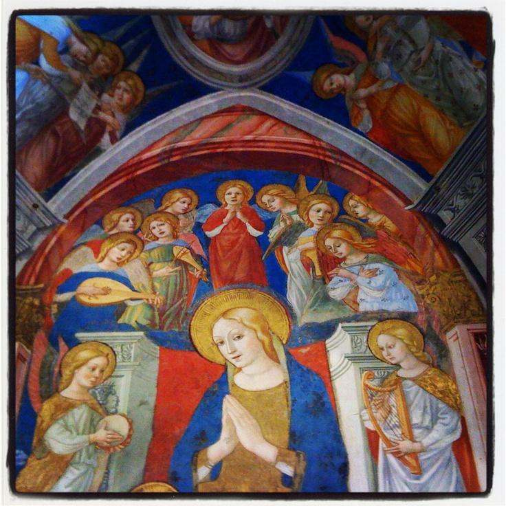 Art in le marche. Sarnano, chiesa di Santa Maria di Piazza
