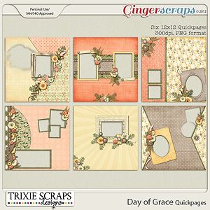 Day of Grace Quickpages by Trixie Scraps Designs