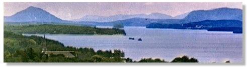 Magog & Lake Memphremagog, Eastern Townships, Qc, Canada