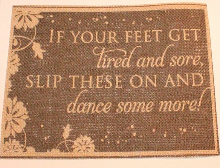 """Rustic Shabby Chic Country Burlap Wedding Sign If Your Feet Get Tired 8 x 10"""" --no flowers and use """"Disney stars"""""""