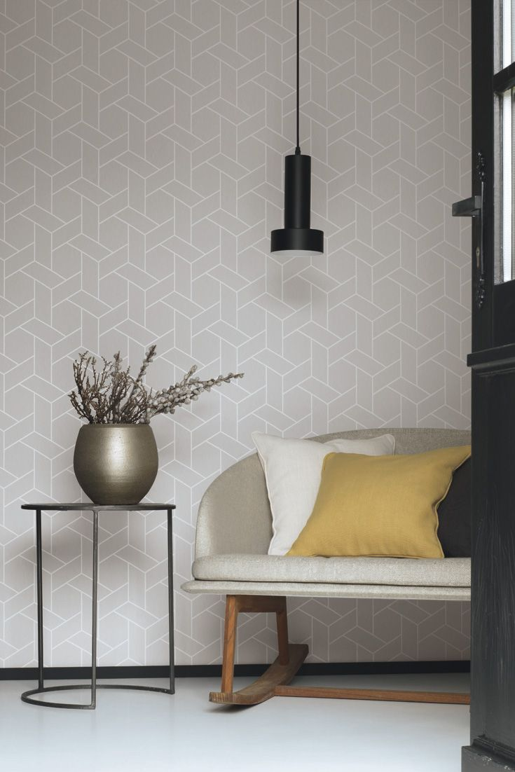 Grafiktapete Helsinki Grau Mit Linien Im Skandinavischen Stil Graue Wande Wohnzimmer Tapete Grau Wandgestaltung Wohnzimmer Tapete