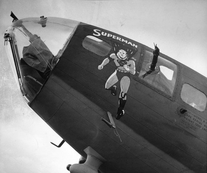 Image result for superman wwii planes