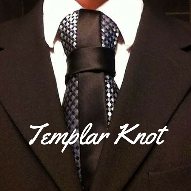 How To Tie a Tie - Templar Knot Video. 100 Ways to Tie a Tie Interchangeable contrast tie only available at www.edietty.com . Only subscribers will benefit using my coupon code tieguy1 to save $10 if you buy one set, or use coupon code tieguy2 to get 1/2 price on your second set when you buy 2 sets which adds up to $30.
