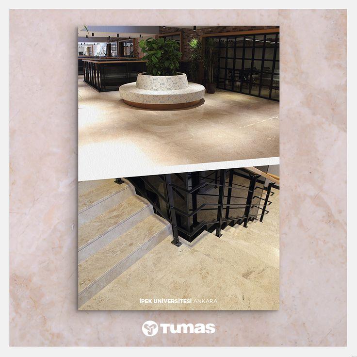 Project: İpek Univercity / Ankara Marble Used: Adalia Cappuchino 〰 Proje: İpek Univercity / Ankara Kullanılan Taş: Adalia Cappuchino www.tumasmermer.com
