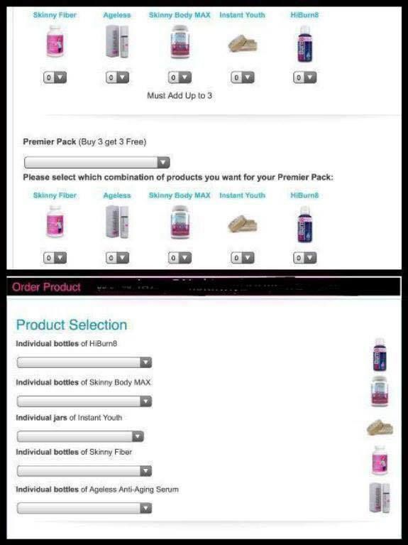 Imagine if you wanted to order our new Skinny Body Max but also wanted to try our instant wrinkle remover, Instant Youth, but want to do it the most cost effective way??? Or if you wanted the original skinny fiber along with our brand new HiBurn8?? Starting NOW you get to mix/match your buy 2, get 1 or buy 3, get 3 anyway you want!! That's right!!!  This option now LIVE for all of you NOW!!  So EXCITING!! :))  http://HarmonysBalance.SBC90.com/?SOURCE=HIBURNPIN