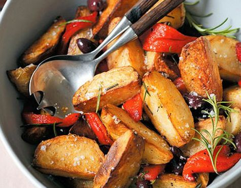 Batatas Crocantes com Pimentão