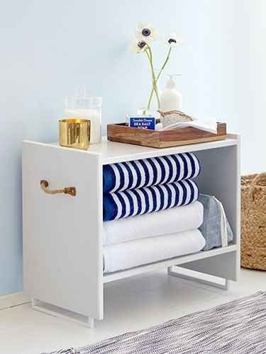 Paint and add a decorative drawer pull to the Rast nightstand ($14.99).