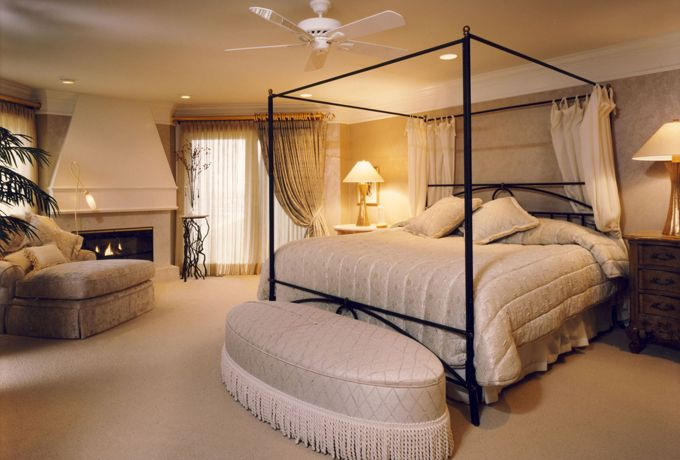 In This Beautiful Master Suite We Used A Tight Palette Of Ivory Cream