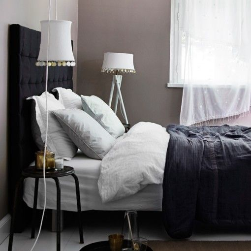 Black headboard from Tine K