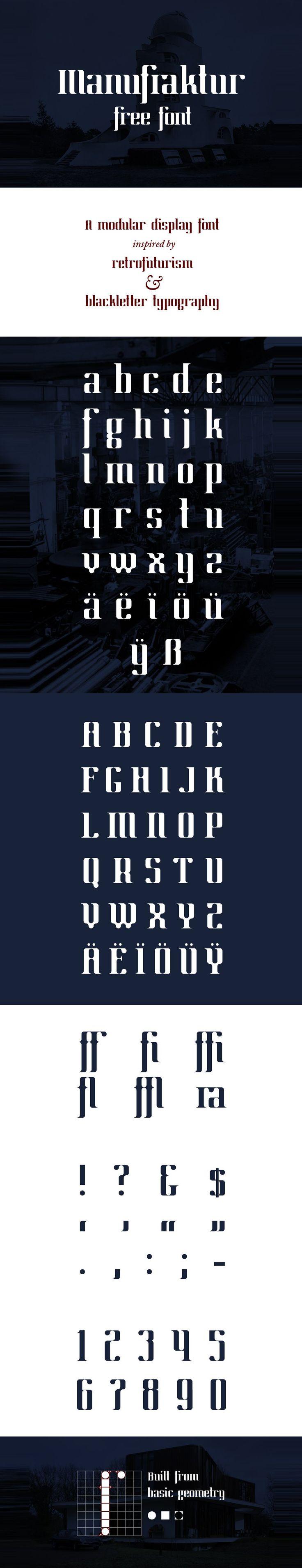 Manufraktur Free Font