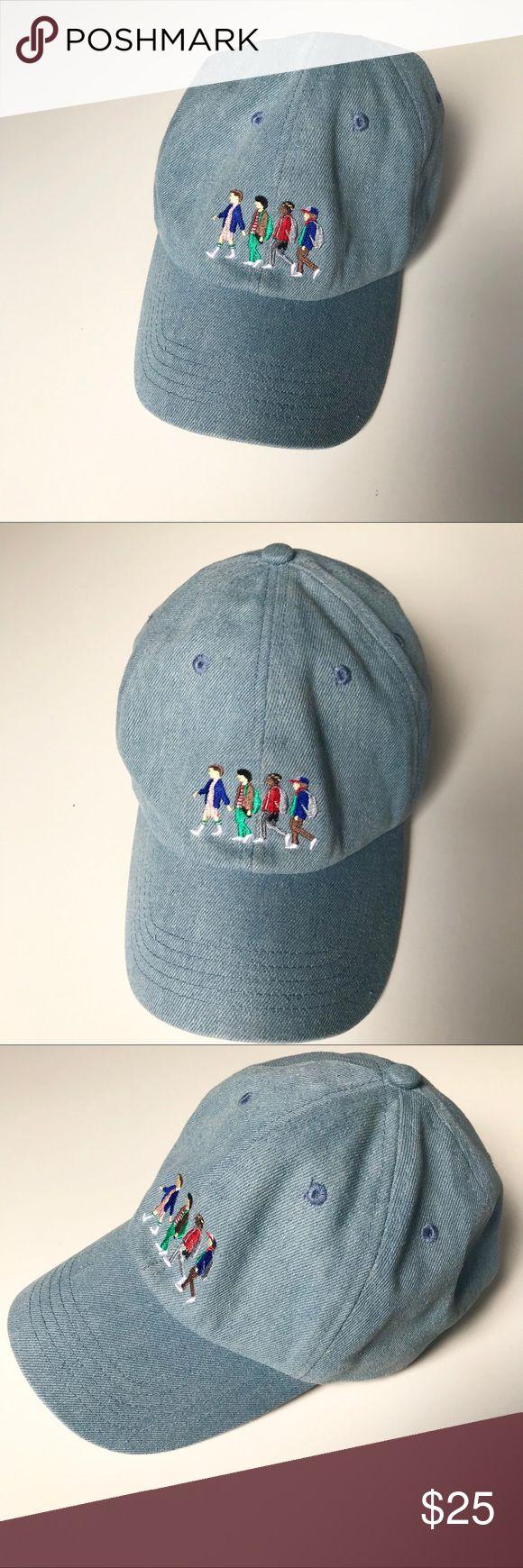 Stranger Things Embroidered Denim Hat Embroidered denim
