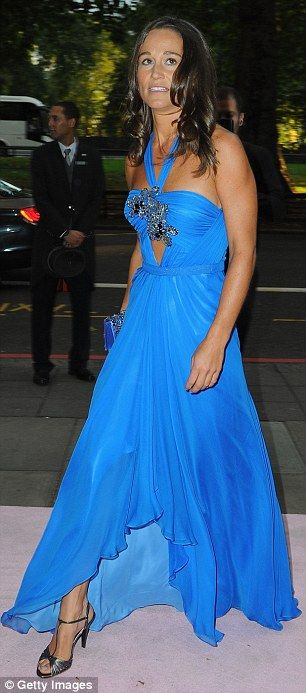 Turning heads again: The dress featured a halter-neck with a bandeau-style bust, which was...
