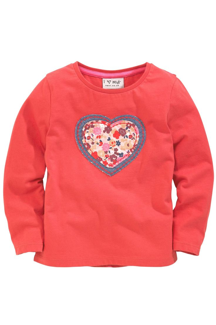 Buy Red Appliqué Heart Top (3mths-6yrs) from the Next UK online shop