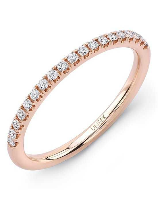 Uneek Fine Jewelry The Amore Wedding Band/A106-107B Rose Gold Wedding Ring