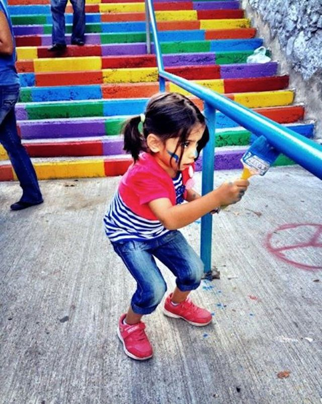 Street Art Color Steps in Turkey