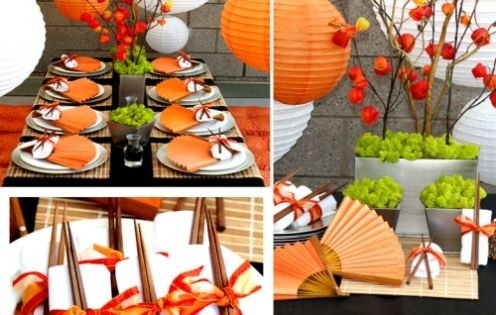 Inspiring! Love this japanese style table setting!! http://janices7.hubpages.com/slide/Asian-Wedding-Decorations/3632696