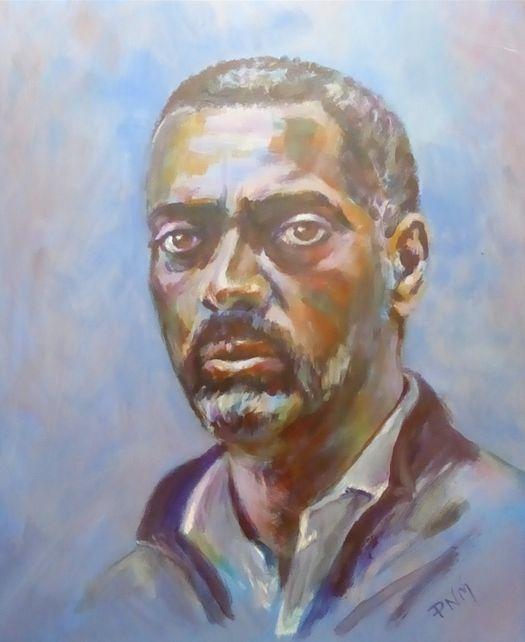 Paul, acrylic, (60x50cm) by Patrick McAuliffe. Pinner Sketch Club runners-up in Art Club of the Year 2017