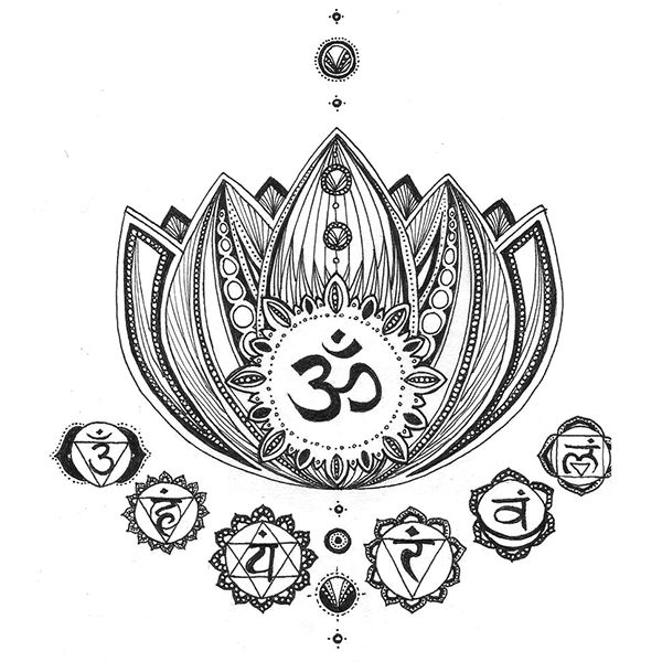 OM, chakras, and lotus flower... all about being zen
