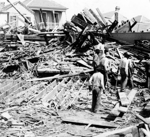 Aftermath of the 1935 Labor Day Hurricane in Florida.